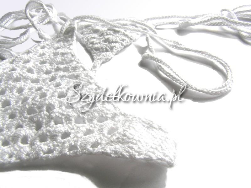 eleganckie białe stringi