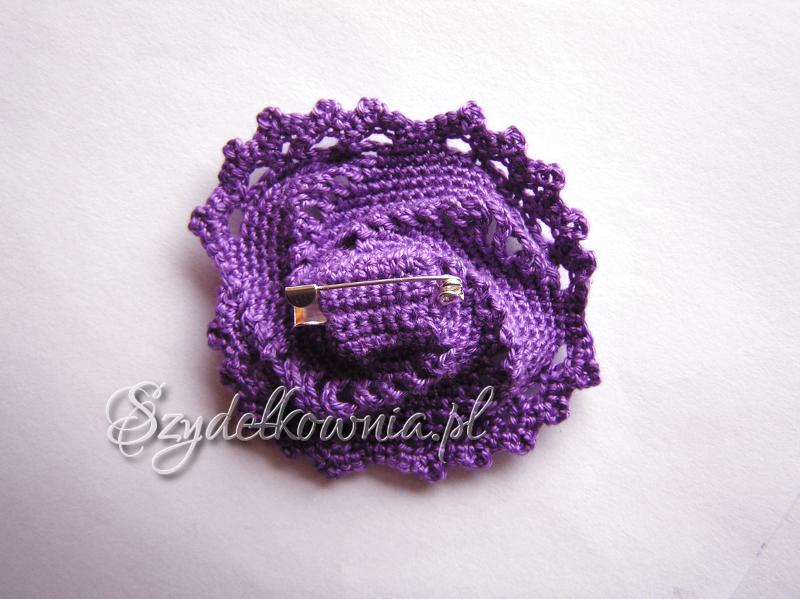 fioletowa spiralna tył