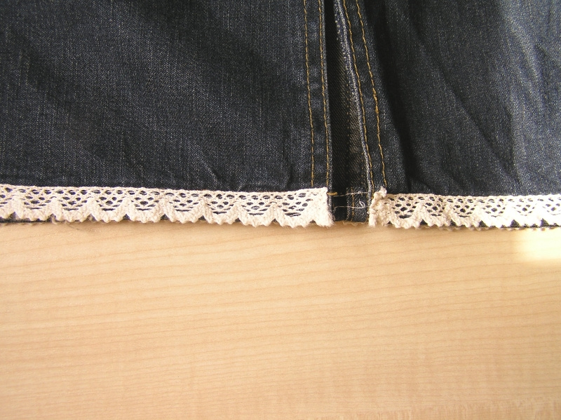 spódnica dół efekt