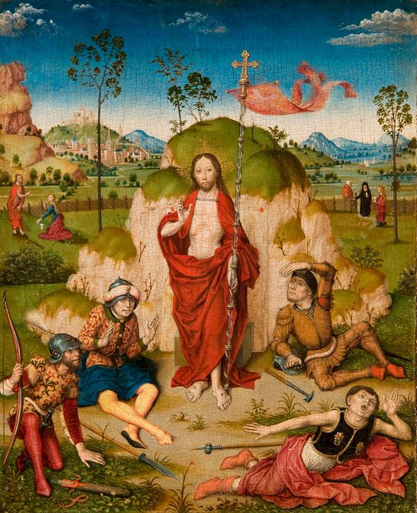 Z kręgu Dirka Bouts'a Zmartwychwstanie Chrystusa ca. 1480 Mauritshuis Den Haag